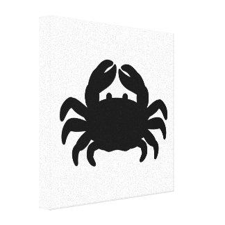 Cute crab silhouette
