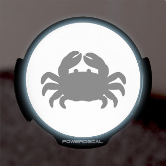 Black Crab Silhouette LED Window Decal