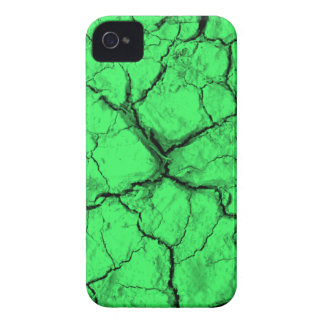 Black Cracks on Green BlackBerry Bold Case
