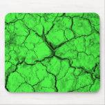 Black Cracks on Green Mouse Pad