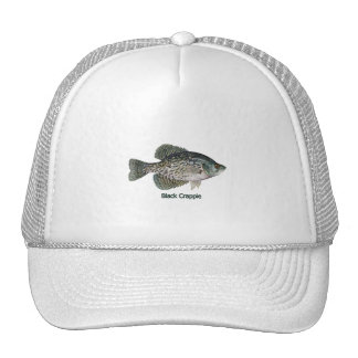 Black Crappie (titled) Mesh Hat