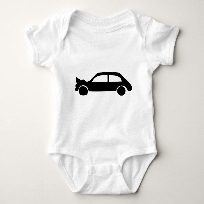 black crash car icon baby bodysuit