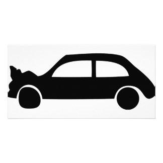 black crash car icon card