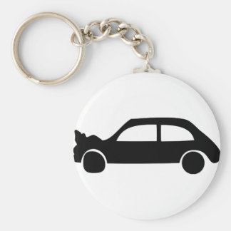 black crash car icon key chain