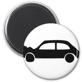 black crash car icon magnet