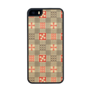 Black, Cream and Red Adinkra pattern Carved® Maple iPhone 5 Slim Case