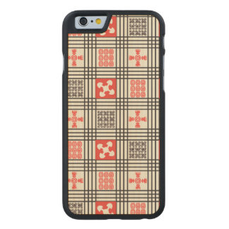 Black, Cream and Red Adinkra pattern Carved® Maple iPhone 6 Slim Case