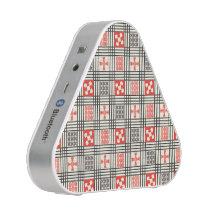 Black, Cream and Red Adinkra pattern Speaker