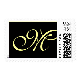 Black Cream Formal Monogram M - Customized Postage