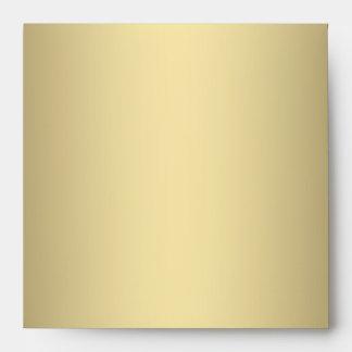Black Cream Gold Square Envelope