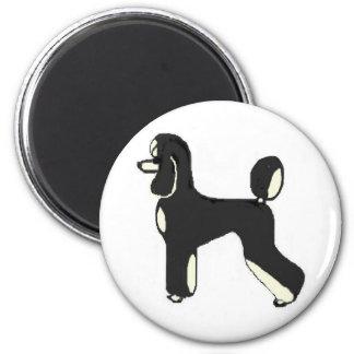 Black & Cream Phantom 2 Inch Round Magnet