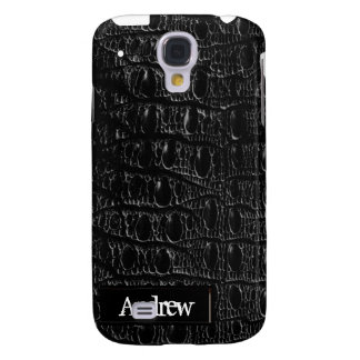 Black Crocodile Skin iPhone3G Galaxy S4 Covers