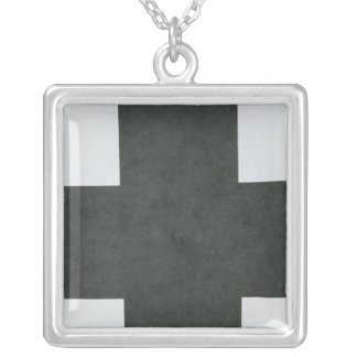 Black Cross, c.1923 Silver Plated Necklace