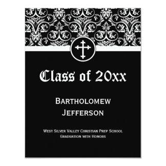 Black Cross Christian Graduation Announcement