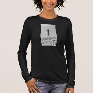 Black Cross Long Sleeve Shirt Women's Christian
