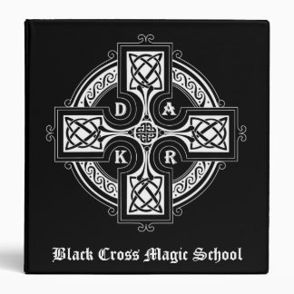 Black Cross Magic School 3-Ring Binder