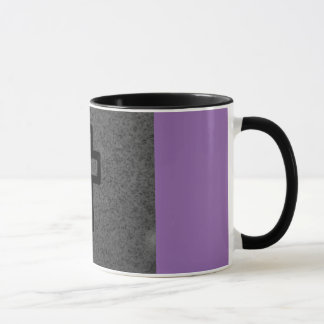 black cross mug
