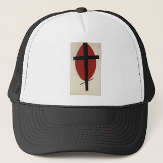 Black cross on a red oval by Kazimir Malevich Trucker Hat