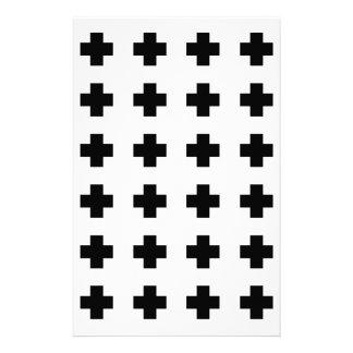 Black cross on White Stationery