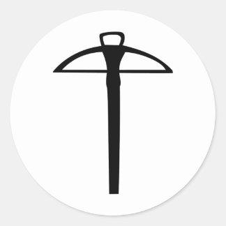 black crossbow classic round sticker