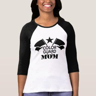 Black Crossed Flags Color Guard Mom shirt