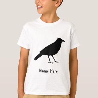Black Crow Bird and Custom Name. T-Shirt