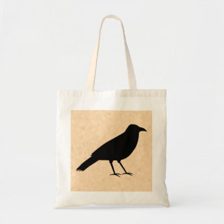 Black Crow Bird on a Parchment Pattern. Bags