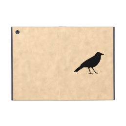 Black Crow Bird on a Parchment Pattern. Cover For iPad Mini
