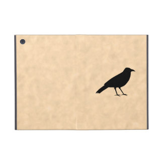 Black Crow Bird on a Parchment Pattern. iPad Mini Cover