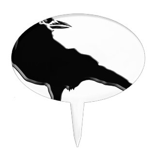 Black Crow Cake Topper
