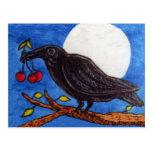 Black Crow Cherries Moonlight Postcards