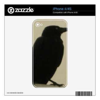 Black Crow Decals For The iPhone 4S