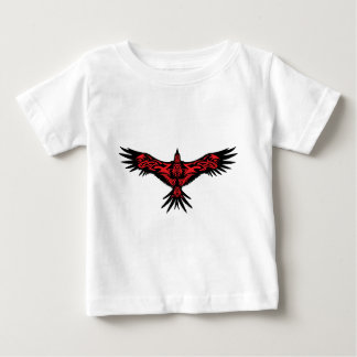 Black crow decorated with abstract art. baby T-Shirt
