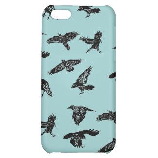 Black crow design case for iPhone 5C