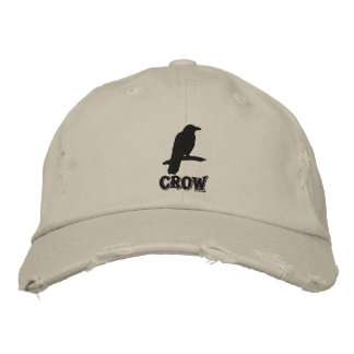 Black Crow Embroidered Hat