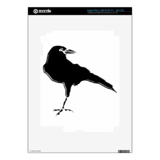 Black Crow iPad 3 Decal