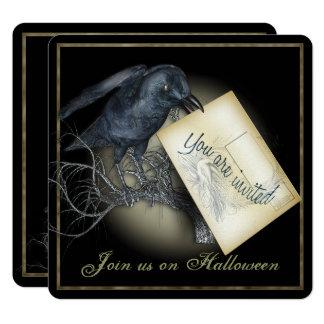 Black Crow Luxury Party Invitation