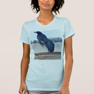 Black Crow on a Pier Tee Shirts