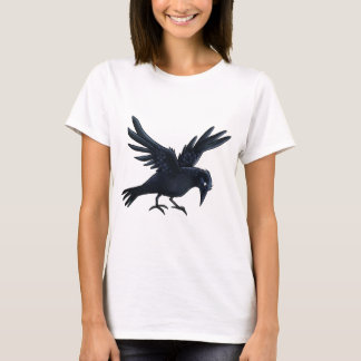 Black Crow Painting - T-shirt
