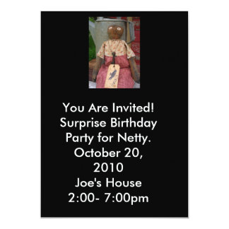 Black Crow Party Invitation