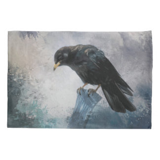 Black Crow Pillow Case