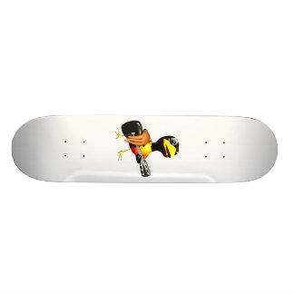 Black crow playing guitar graphic skateboard