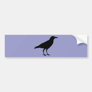 Black Crow Purple Halloween Bumper Sticker