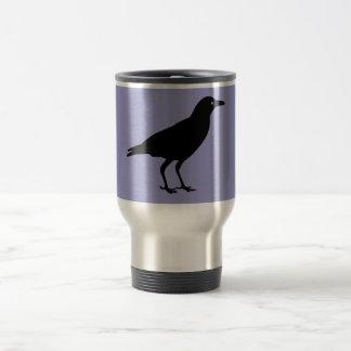 Black Crow Purple Halloween Travel Mug