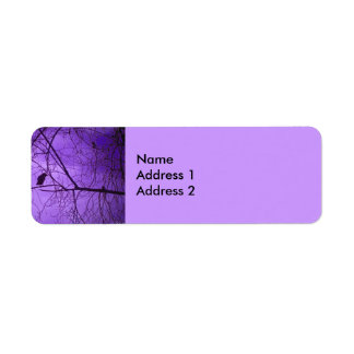 Black Crow Purple Sky Return Address Labels