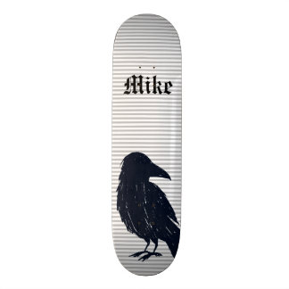 Black Crow Silhouette Personalized Skateboard Deck