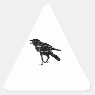 Black Crow Triangle Sticker
