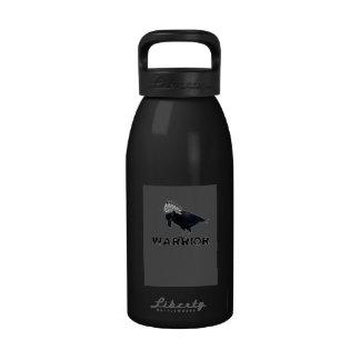 Black Crow warrior Indian Reusable Water Bottle