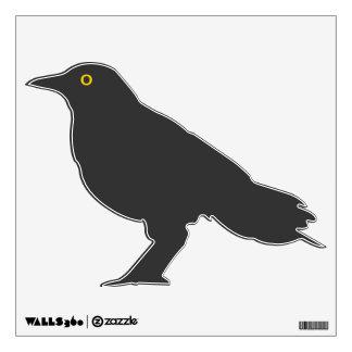 Black Crow with Yellow Eye Wall Decal