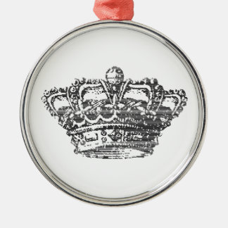 Black Crown Metal Ornament